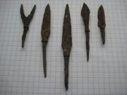 5 железных наконечников времен Киевской Руси