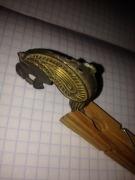 Пришивная бляшка-грифон,серебро,позолота