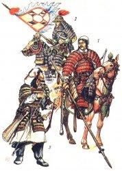 Горелик М. В. Ранний монгольский доспех. 1 - монгол 2 - чжуржень 3 - киданец