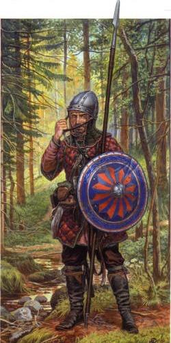 Новгородский пеший воин. 14 век