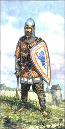 Новгодский воин изо 14 век