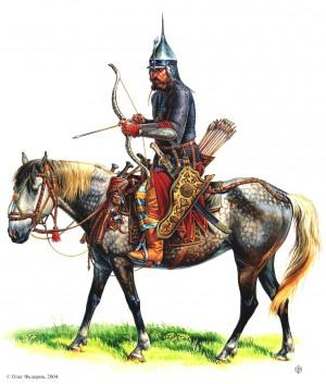 Московская кавалерия. Городовой дворянин поместной конницы из замосковных городовых служилых корпораций 1630-1640