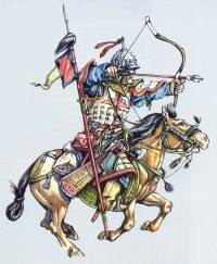 Монгольский средний всадник, конец 12 - начало 14 вв