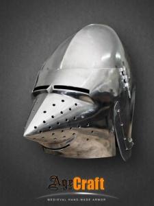 Шлем бацинет с забралом «Хундсгугель»
