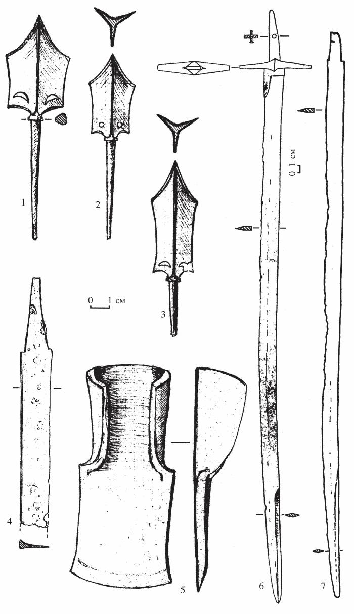 наконечники стрел и сабли