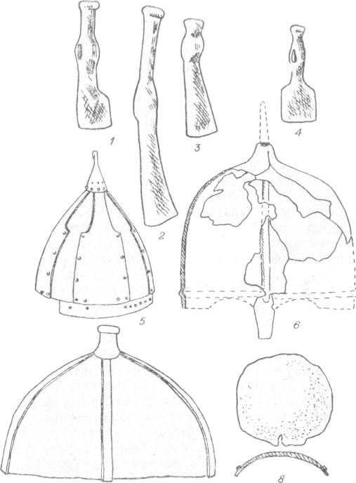 шлемы и топоры кочевников средневековья