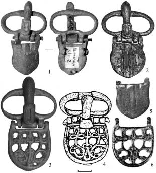 Ременные пряжки раннесредневековых кочевников