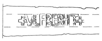 Клеймо мастера (или владельца) на клинке меча