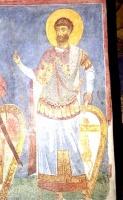 Св. Федор, XII в., фреска церкви св. Пантелеймона, Нерези, Македония.