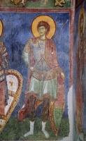 Св. Воин, XII в., церковь св. Пантелеймона, Нерези, Македония.