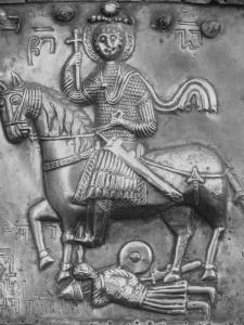 Св. Георгий из Парахети в линейном ламелляре с двойными заклепками