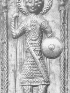 св. Георгий из Чукули в ламелляре с подкладкой из кожи