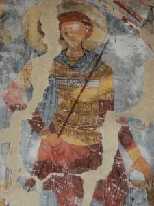 Адишский св. воин (Федор?) в типичном полосатом заклепочном ламелляре