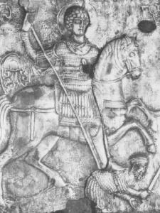 Лабечинский св. Георгий в полосатом двухзаклепочном ламелляре