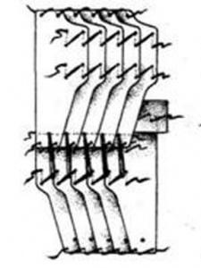 Тип пластины, найденной в Гомеле и реконструкция доспеха, по О.Л. Макушникову и Ю.М. Лупиненко