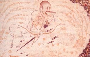 ильхан из рода Хулагу, миниатюра нач. 16 века, Британский музей