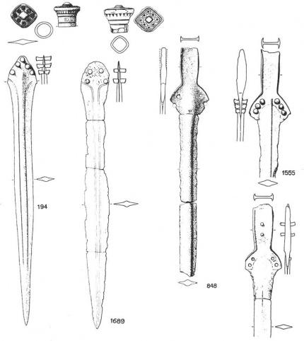 Примеры мечей с повторно заточенным и измененным клинком