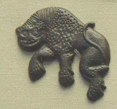 Лев, морда анфас. Велестинский клад, VI-VII век