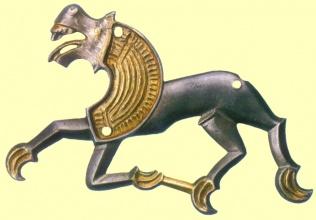 Конь-лев. Мартыновский клад, VI-VII век