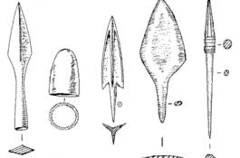 Втульчатые и черешковые наконечники стрел
