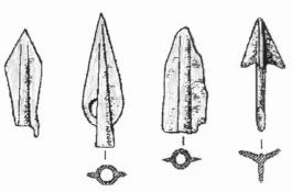 Бронзовые наконечники стрел