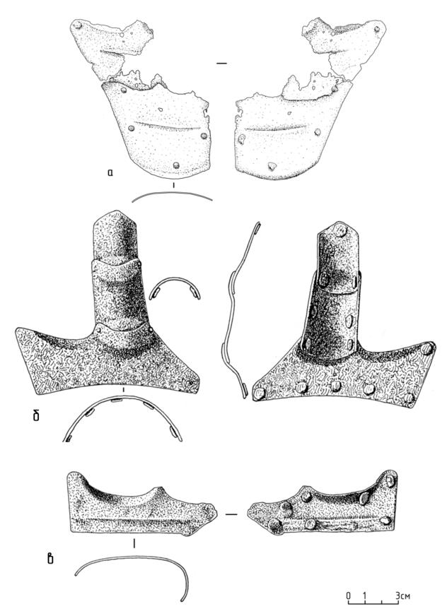 Пластины латной перчатки, защищающие основание большого пальца