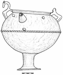 Котел из Слободзеи: вид со стороны носика