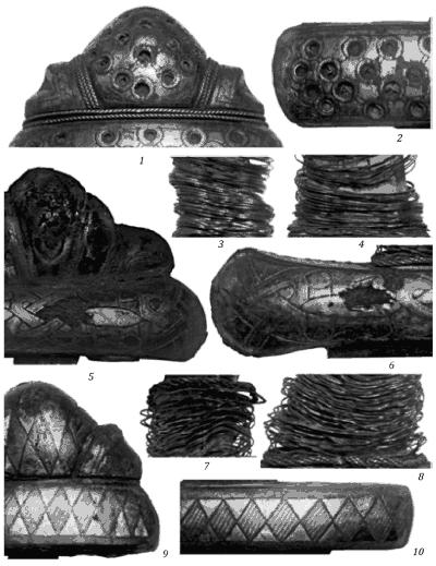 Детали отделки рукоятей мечей найденных при строительстве Днепрогэса
