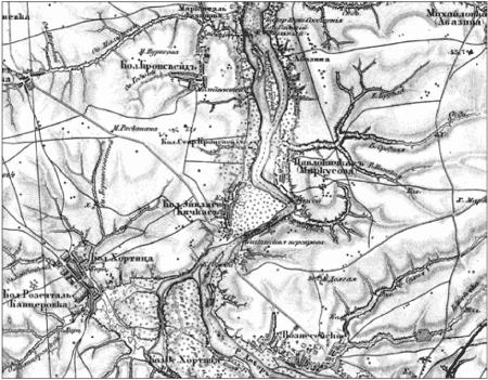 Участок Днепра от о. Хортицы до Вольного порога на трехверстовке