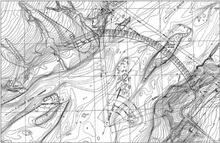 План сооружений полотины Днепрогэса, 1924 г.