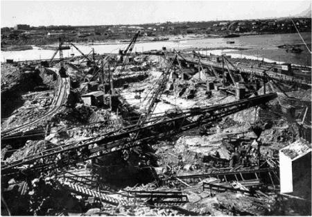 Котлован левого протока, 1928 г.