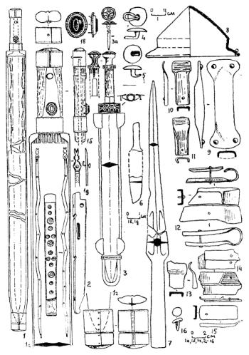 Древний кавказский кинжал. Погребение 61 могильника Цибилиум-18