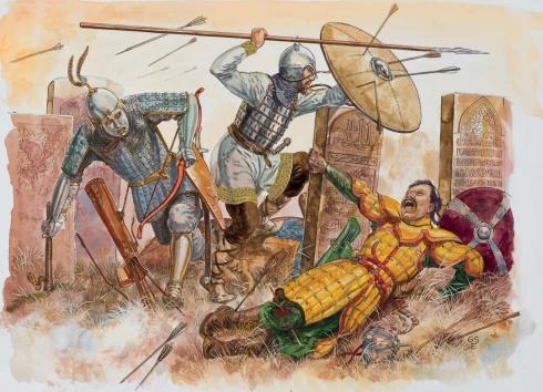 1 - Булгарский эмир. 2 - Мордвинский дворянин. 3 - Монгольский воин.