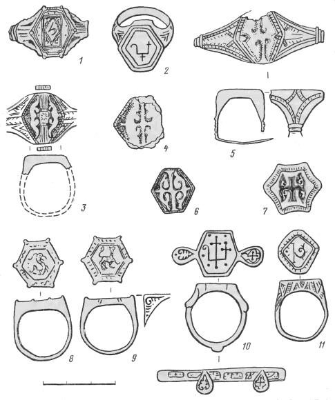 Перетни с геральдическими эмблемами из Киевского клада